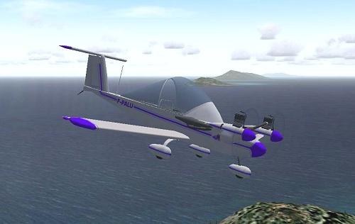 cri cri ultralight plane model for microsoft flight simulator msfs